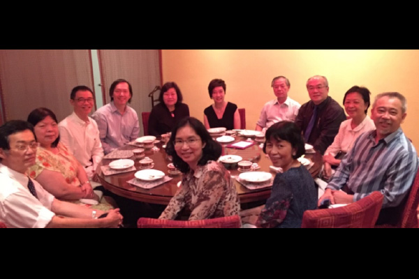 Figure 8: Post MRCPCH Examiners' Dinner attended by all examiners, Prof Thong Meow Keong and Secretariat staff members on 8th October 2015
